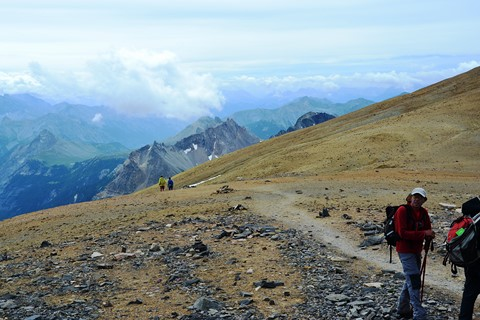 summit trail trekking holiday French Alps europe